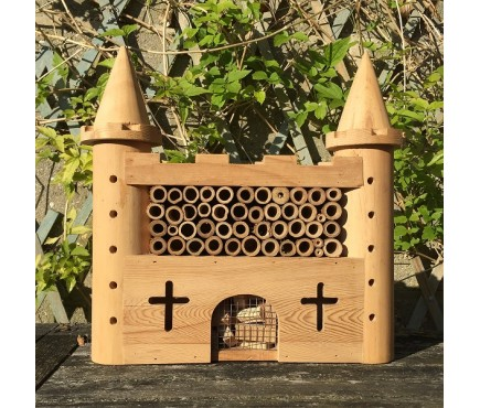 Wooden Castle Fort Insect Hotel Habitat for Bees & Butterflies