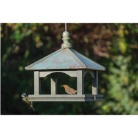 Classic Hanging Bird Table with Copper Roof