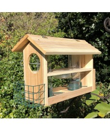 Wooden Buffet Bird Feeder