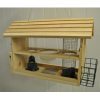 Wooden Multi Bird Feeder Buffet