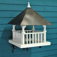 St Brelades White Wooden Bird Table