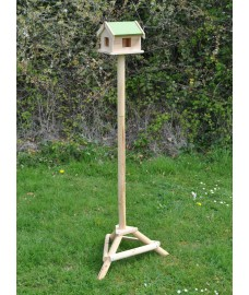 Wooden Bird Table Pigeon Proof with Ground Spikes