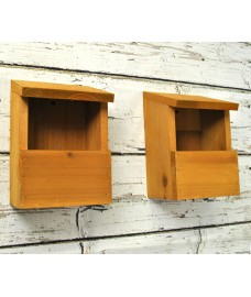 Wooden Robin Birdhouse Garden Nest Boxes (Set of 2)