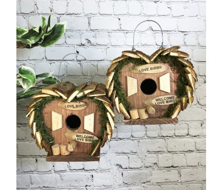 2 x Love Bird Nest Box