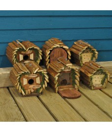 Wildlife Care Pack (Set of 6) Bird Nest Boxes, Insect Hotels and Squirrel Feeders