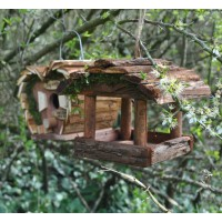 Love Bird Nest Box & Hanging Bird Table Set