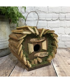 Hanging Wooden Love Bird Nest Box Birdhouse