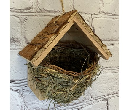 Woven House Martin Bird Nester with Roof