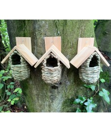 Reed Bird Nesting Pouches (Set of 3)