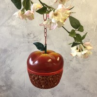 Red Apple Hanging Nut Bird Feeder