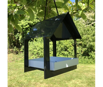 Metal House Hanging Bird Table Feeder