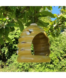 Ceramic Beehive Bird Feeder by Smart Garden