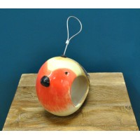 Ceramic Robin Bird Feeder by Wildlife World