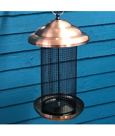 Copper Extra Large Hanging Metal Bird Nut Feeder