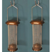 Set of 2 x Hanging Peanut Bird Feeders For Selections Metal Bird Feeding Stations