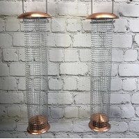 Large Copper Style Hanging Bird Nut Feeder (Set of 2)