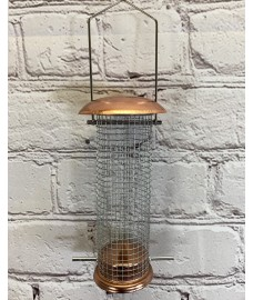 Copper Style Hanging Bird Nut Feeder
