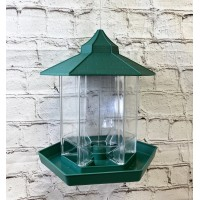 Green Chalet Bird Seed & Nut Feeder