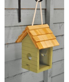 Beach Hut Wooden Bird Seed Feeder by Gardman