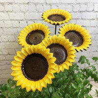 Cast Iron Wild Bird Sunflower Dish Bird Feeder (Set of 5)
