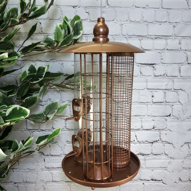 Delux 3 in 1 Seed, Nut and Fatball Bird Feeder