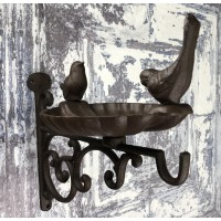Venus Cast Iron Wall Mounted Bird Bath Feeder with Hanger