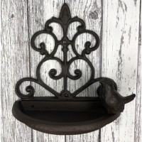 Conwy Cast Iron Wall Mounted Bird Feeder