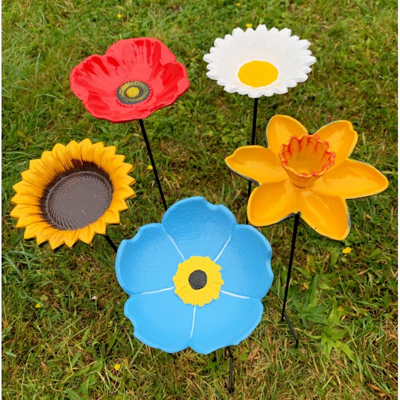 Floral Bird Feeders - Poppy, Daffodil, Sunflower, Daisy & Forget Me Not
