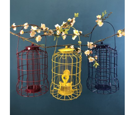 Hanging Squirrel Proof Nut, Seed & Fat Ball Bird Feeders (Set of 3)
