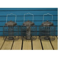 Delux Heavy Duty Hanging Bird Feeders Squirrel Proof (Set of 3) for Nut, Seed & Fat Ball