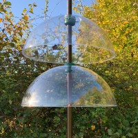 Squirrel Proof Baffle Protection for Wild Bird Feeders (Set of 2)