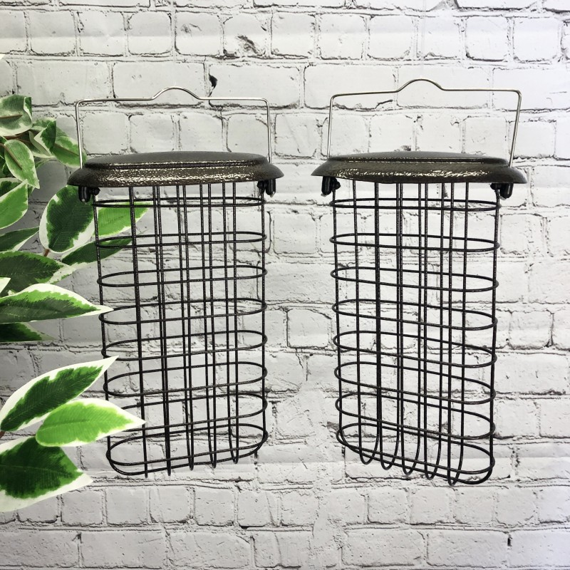 Large Hanging Suet Block Bird Feeders For Selections Feeding Stations (Set of 2)