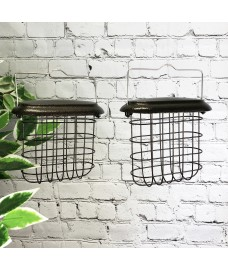 Hanging Suet Block Bird Feeders For Selections Metal Bird Feeding Stations (Set of 2)
