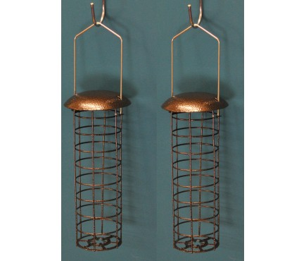 Set of 2 x Hanging Fatball Bird Feeder For Selections Metal Bird Feeding Stations