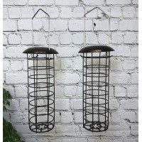 Hanging Fatball Bird Feeder For Selections Metal Bird Feeding Stations (Set of 2)