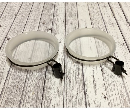 Water Dish & Bird Bath Bracket Double Pack for Selections Metal Bird Feeding Stations