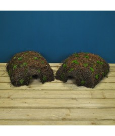 Set of Two Brushwood Hogitat Hedgehog House Shelters