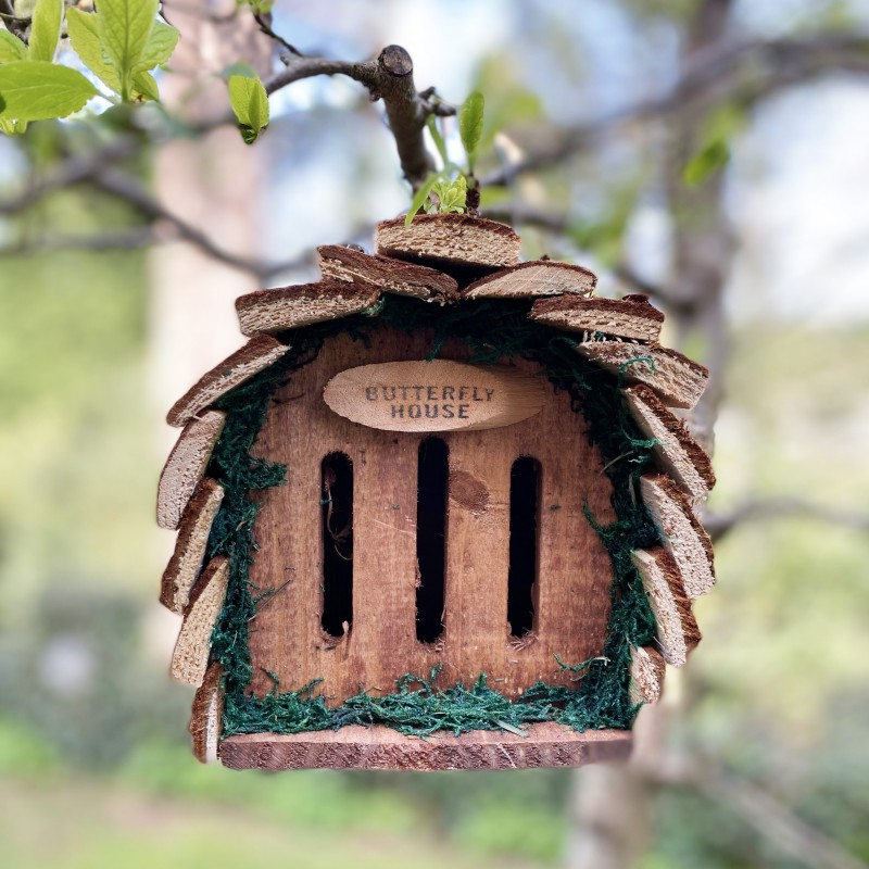 Wooden Hanging Butterfly House