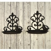 Conwy Cast Iron Wall Mounted Bird Feeder (Set of 2)