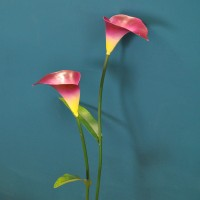 Pink Lily Metal Garden Stake by Smart Garden