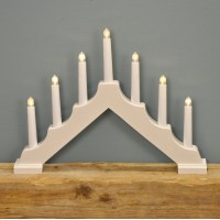 Traditional White Christmas Candle Bridge