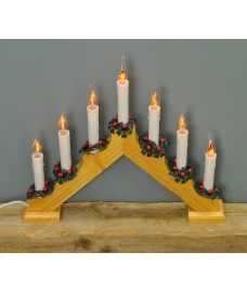 Traditional Wooden Christmas Candle Bridge