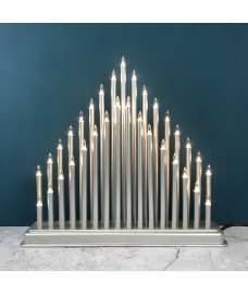 Olympus Silver Christmas Candle Bridge