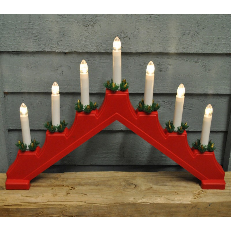 Traditional Red Christmas Candle Bridge