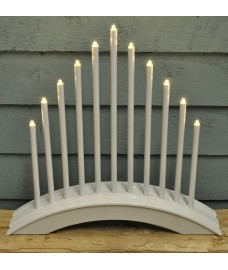 Arctic White Christmas Candle Bridge