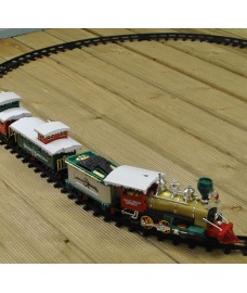 Festive Santa's Village Express 20 Piece Train Set with Headlight (Battery)