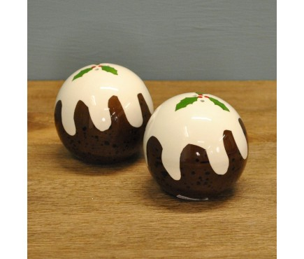 Christmas Pudding Salt & Pepper Shakers by Premier