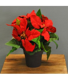 Christmas 28cm Potted Poinsettia Table Top Tree by Premier