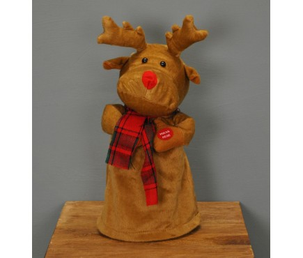 Musical Dancing Christmas Reindeer (30cm)