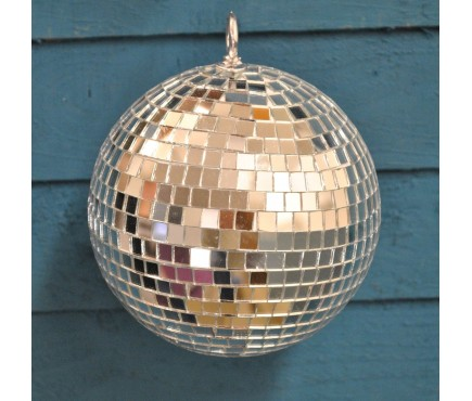 Silver Mirror Ball Christmas Decoration (15cm)